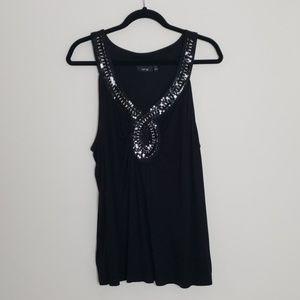 Apt. 9 black sequins top